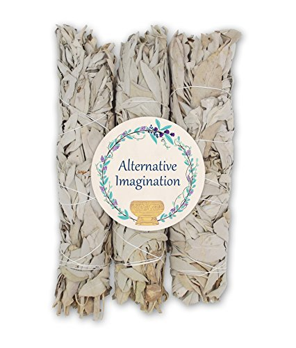 Extra Large California White Sage, Each Stick Approximately 8.5 Inches Long and 1.5 Inches Wide for Smudging Rituals, Energy Clearing, Protection, Incense, Meditation, Made in USA (3 - Extra Large) by Alternative Imagination