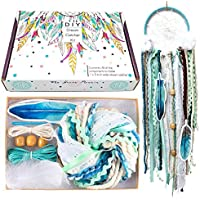 DIY Dream Catcher Kit Blue Arts and Crafts Kits Make Your Own Dreamcatcher birthday Gift for Kids 5 Inch Ring