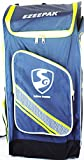 SG Ezeepak Polyster Cricket Kit Bag (Navy Blue/Black/Floral Green)