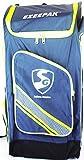 SG Ezeepak Polyster Cricket Kit Bag (Navy Blue/Black/Floral Green)