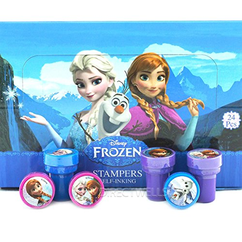 Disney Frozen 24 Self Inking Stampers Party Favors IN BOX