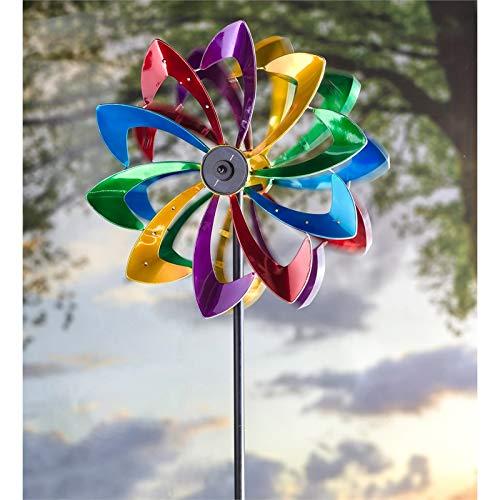 Evergreen Garden LED Flower 75 inch Metal Kinetic Solar Wind Spinner by Evergreen Garden (Image #4)