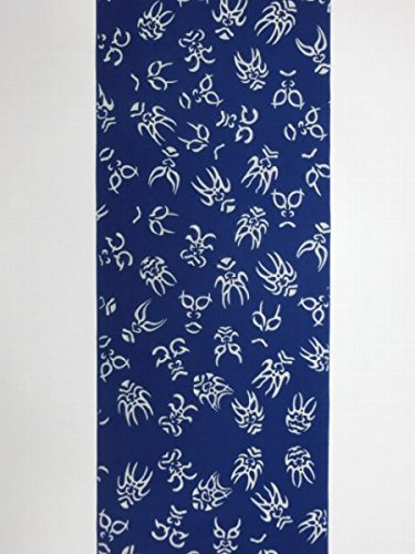 わずかな回転する女将竺仙浴衣 藍色に隈取