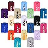 Berlioni Boy's Dress Shirt, Necktie, and Hanky Set - Many Color and Pattern combinations