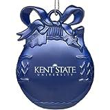 Kent State University - Pewter Christmas Tree Ornament - Blue