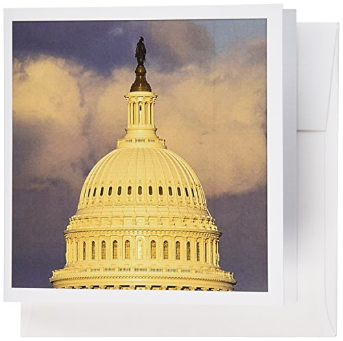 3dRose Dome of the U.S. Capitol Building, Washington DC - US09 DFR0071 - David R. Frazier - Greeting Cards, 6 x 6 inches, set of 6 (gc_88988_1)