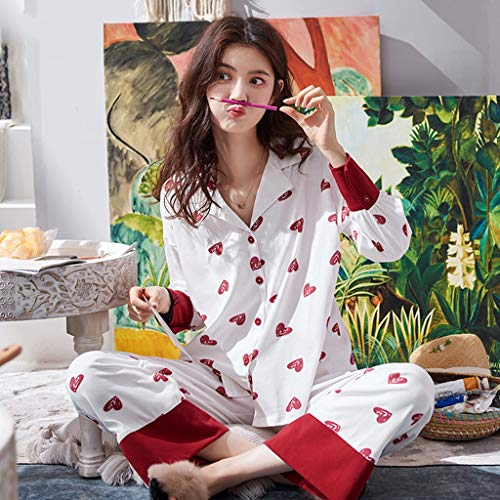 Y Ropa Otoño Algodón De Mujer Pijamas Deportiva Size El Larga Primavera Hogar Suelta Manga Red Red Para Ocio color Dormir Sg wYqzxv5xB