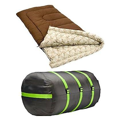 Coleman - Saco de Dormir para Adulto (20 Grados), Color marrón, Beige