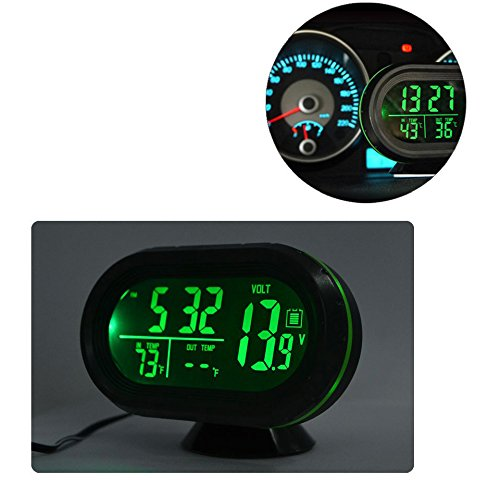 Lighted Digital Thermometer Temperature Voltmeter