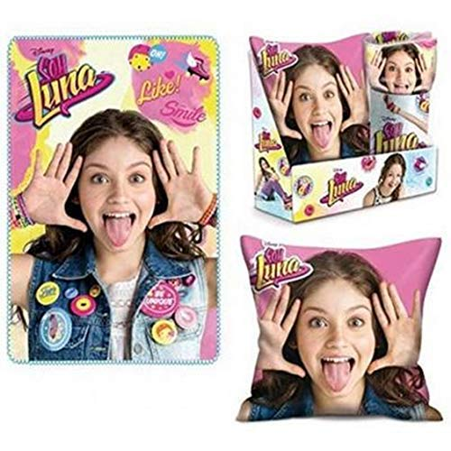 Caja Cojín + Manta Soy Luna infantil: Amazon.es: Hogar