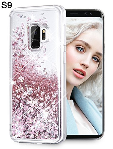 - Maxdara Galaxy S9 Case, Galaxy S9 Glitter Case Liquid Floating Luxury Bling Sparkle Glitter Shockproof TPU Bumper Pretty Fashion Design Girls Women Case Cover for Galaxy S9 (Rosegold)
