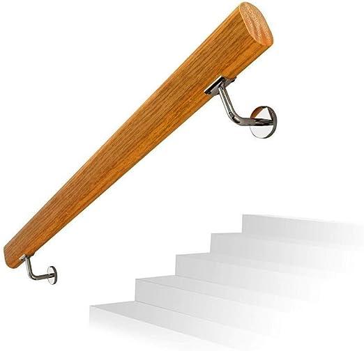 Barandilla de escalera de madera maciza antideslizante, barandilla de barandilla interior montada en la pared for el hogar, barandilla moderna simple (Size : 80CM): Amazon.es: Bricolaje y herramientas