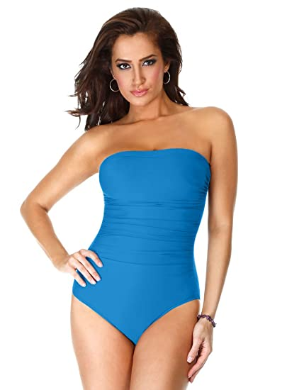 404562fa189 Miraclesuit Solid Avanti Peacock 16 at Amazon Women's Clothing store: