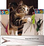 Da Bird Single 3ft Pole Cat Toy + 2 Extra Guinea Feather Refills