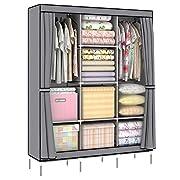 51X17X68 inch Non Woven Folding Practical Portable Clothes Storage Rack Closet Wardrobe SI-PW170B