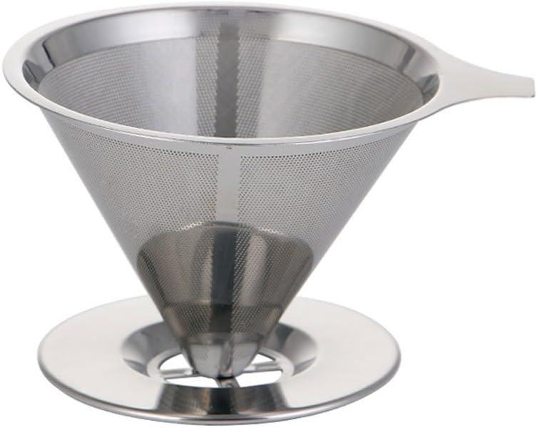 asentechuk® 1pcs Filtro de acero inoxidable tazas, vierta sobre ...