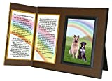 Pet Lover Remembrance Gift, ''Rainbow Bridge'', Memorial Pet Loss Picture Frame and Sympathy Gift Package, with optional custom photo editing, Rich Dark Brown with Foil Accent