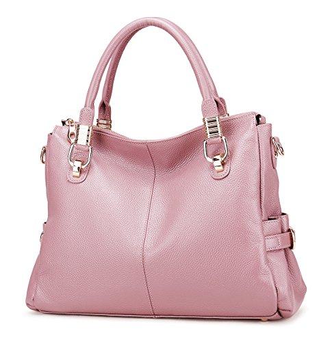 Messenger Ladies' Purse Genuine Leather Bag Pink Handbags Vintage Womens handle Shoulder SALE Soft Top Purple AINIMOER Tote BIG Crossbody 4aZq6Z