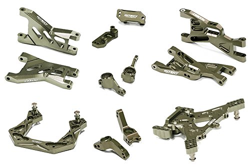 INTEGY RC Model Hop-ups C26460GREY Billet Machined Suspen...