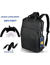 Slim Laptop Backpack for Women Men, Kuprine Rainproof Laptop Briefcase Messenger Bags Fits Up to 15.6 Inch Computer Backpack, Lightweight and Stylish