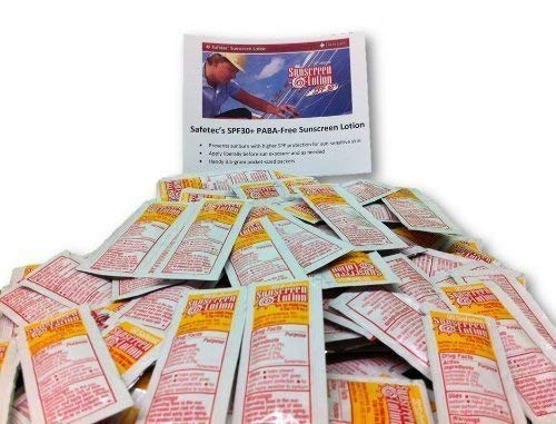 Sunscreen Lotion 100 Packets SPF30+ and PABA-Free by Safetec