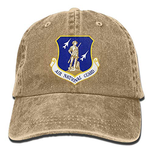 United States Air Force National Guard Mens Cotton Adjustable Washed Twill Baseball Cap Hat