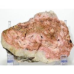 "Large 4.75"" 1.2lb Rich Pink Rhodochrosite Rough Stone Natural Mineral Cluster Lapidary Crystal Gemstone Specimen - Peru"