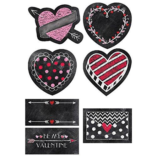 Creative Teaching Press Incentives, Wall Décor Chalk Hearts Cut Outs, 6