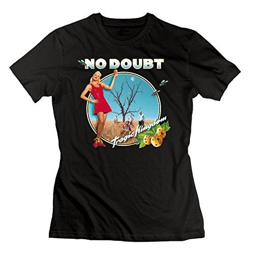 (Ulongpoq Women's No Doubt Tragic Kingdom Cotton Tee Black XXL)