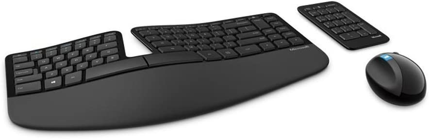 Microsoft Sculpt Ergonomic Wireless Desktop Keyboard and Mouse (L5V-00001) With Mouse