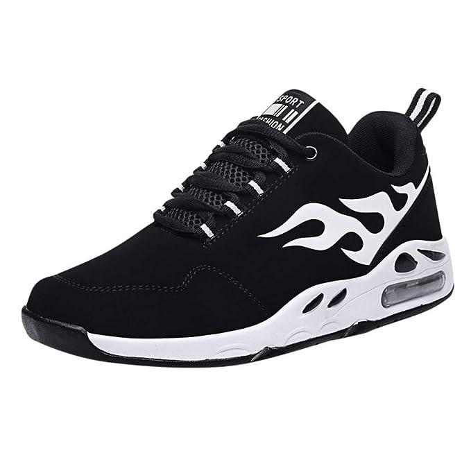 beautyjourney Zapatos de Baloncesto al Aire Libre de los Hombres Calzado Deportivo Casual con cojín de Aire Zapatilla Ligera Transpirable Suave Zapatos de ...