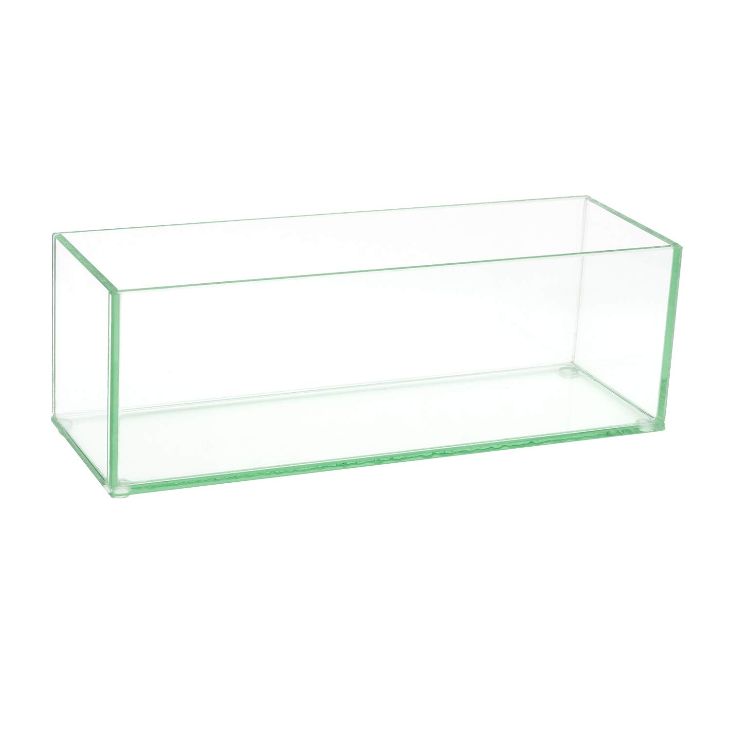 Flower Glass Vase Decorative Centerpiece For Home or Wedding by Royal Imports - Oblong Rectangle Shape, 12