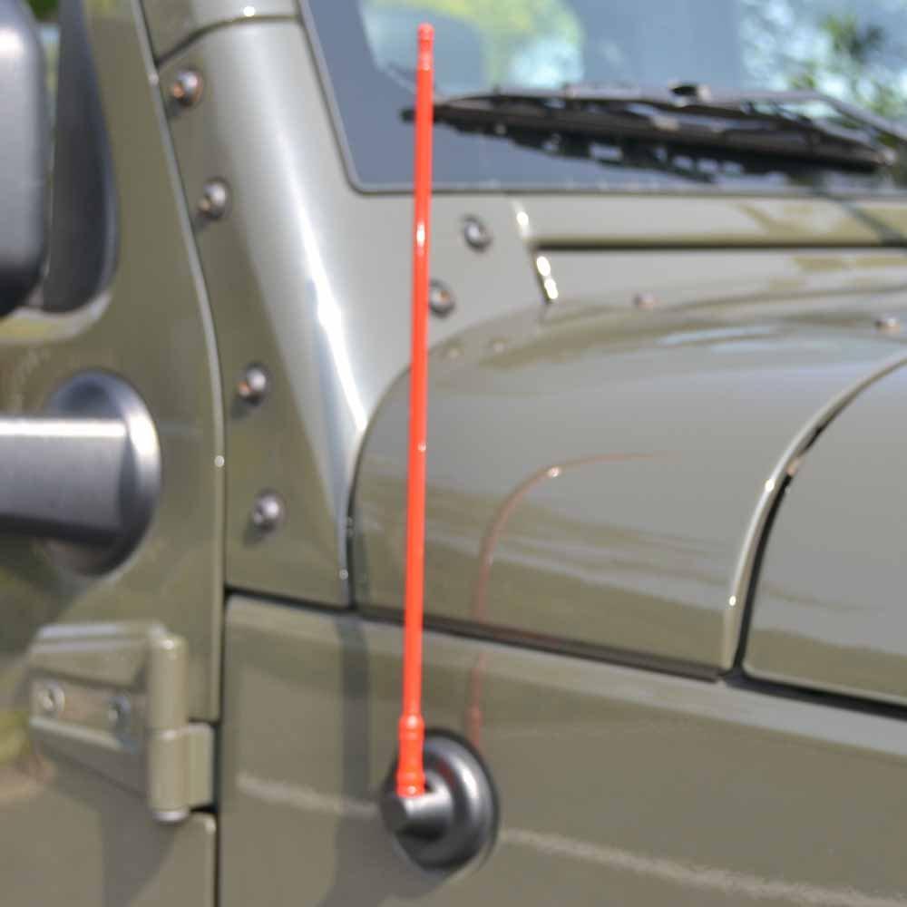 Bosmutus luchi AM FM Radio Antenna Replacement 7 inch Aluminum Antenna for 2007-2018 Wrangler JK JL 2 Door and 4 Door