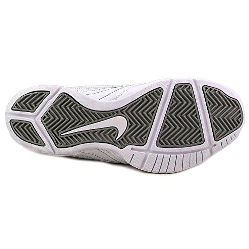 NIKE Air Baseline Low Herren Runde Kappe Leder Basketballschuh Weiß / Weiß-Metallic Silber