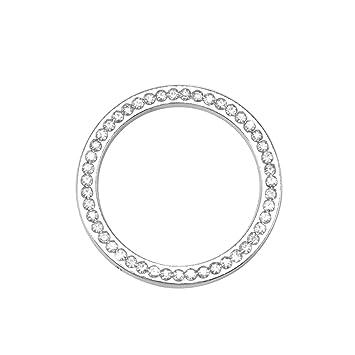 Rot LITTOU L/üftungsringe Auto Klimaanlage Outlet Decoration Ring Cover Sticker Aluminium Alloy