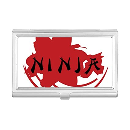 Cartera para tarjetas de visita con silueta de japonés Ninja ...