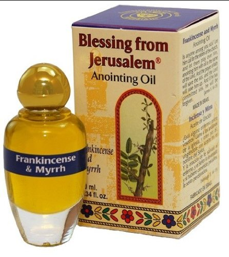 Frankincense and Myrrh Anointing Oil with Biblical Spices (10ml) by Bethlehem Gifts TM