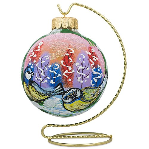 BestPysanky Twisted Curved Golden Tone Metal Holder Ornament Stand 6 Inches - Twisted Wire Stand Ornament