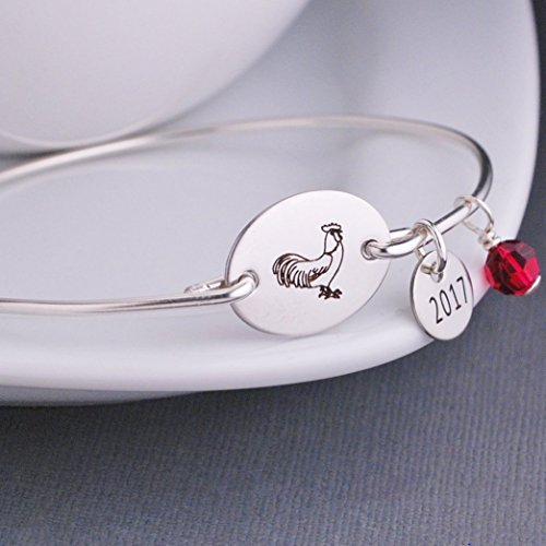 Rooster Bracelet Year of the Fire Rooster Handmade ()
