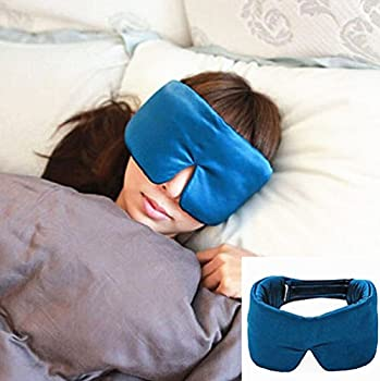 douper Sleeping Masks for Adult 100% Natural Silk Forehead Eye Face Cover Peacock Blue