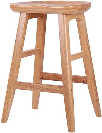 LiaoMu Sgabello da bar in legno massello Sgabello da bar