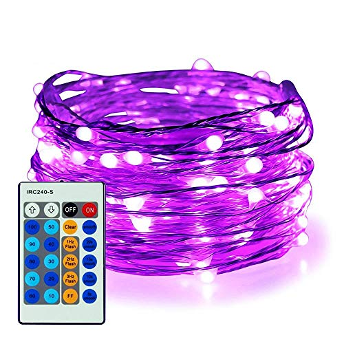Purple Led Christmas Lights Black Wire in US - 2