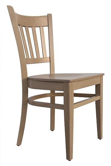 Abritus Set 2 Stühle Stuhl Esszimmerstuhl Buche Massiv Holz Natur »T002«