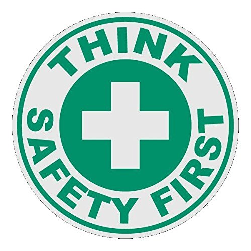 Think Safety First Small Round Reflective Decal Sticker