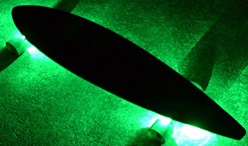 GlowCity UnderGlow Light Up LED Lights For Longboards,Skateboards and Scooters (Green) (Led Lights Skateboard With)