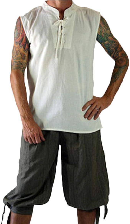 Camisa De Hombre Medieval Sin Mangas Renacimiento ...