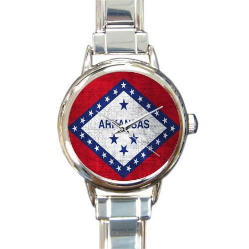 Arkansas Italian Charm - Friends/Sisters New Wedding Gifts Presents Gifts Presents Retro Style Arkansas State Flag Women's Italian Charm Watch