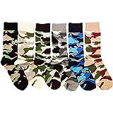 Freedom Men's 6 Pack of Colorful Fashion Dress Socks-Camo