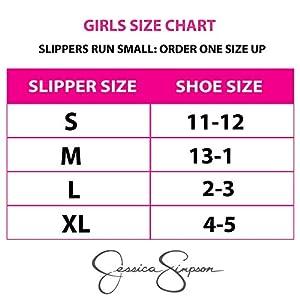 Jessica Simpson Girls' Comfy Slippers – Cute Faux Fur Slip-On Shoes Memory Foam House Slipper