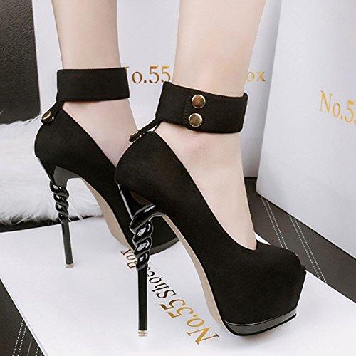 las ultramarinos High plataforma cabeza de verano disponibles de y Black Thin 5 de de Heels Zapatos pescado moda impermeable Sexy GAOLIXIA de Zapatos primavera de colores de Nightclub mujeres z7WaqFB